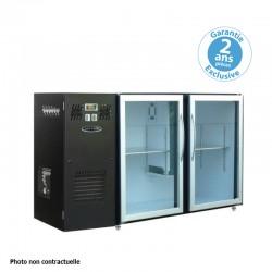Unifrigor - Arrière-bars - Série LEDS - Groupe logé - 2 petites portes vitrées - 223 litres