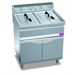 Furnotel - Friteuse gaz sur coffre - 2 x 15 litres - FG1515SC