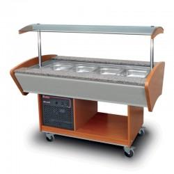 Furnotel - Buffet réfrigéré central - 4 bacs GN1/1 - BR4GN
