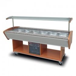 Furnotel - Buffet réfrigéré central - 6 bacs GN1/1 - BR6GN