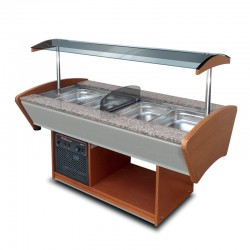 Furnotel - Buffet mixte central - 2 x 2 bacs GN1/1 - BMIX22GN