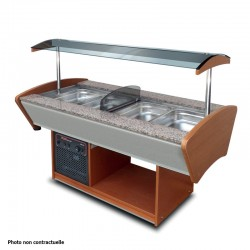 Furnotel - Buffet mixte central - 2 x 3 bacs GN1/1 - BMIX23GN