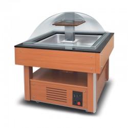 Furnotel - Buffet réfrigéré central carré - 4 bacs GN1/1 - BRC4GN