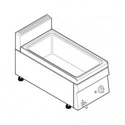 Tecnoinox - Bain-marie GN1/1 gaz à poser - Gamme 600 - BM35GG6