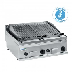 Tecnoinox - Grill charcoal double gaz - Gamme 700 - GR70G7