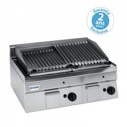 Tecnoinox - Grill charcoal double gaz - Gamme 600 - GR70GG6