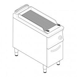 Tecnoinox - Grillade charcoal gaz simple sur placard fermé - Gamme 900 - GR4FG9