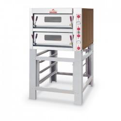Italforni - Four à pizza - Série TK - 2 chambres - 8 pizzas - Commandes mécaniques - TK2A
