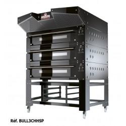 Italforni - Four à pizza - Série BULL - 3 chambres - 3 x 12 ou 3 x 9 pizzas