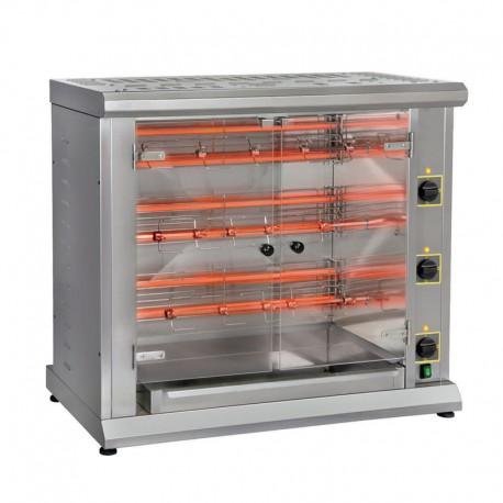 Furnotel - Rôtissoire à 3 broches gaz - 12 poulets - RBG120