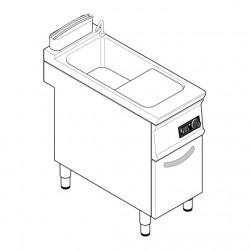 Tecnoinox - Cuiseur à pâtes électrique - 24 Litres - Commandes électroniques - gamme 700 - CPD4FE7