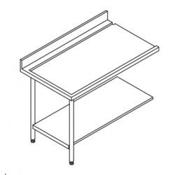 Table entrée/sortie pour machines à paniers 500 x 500 ou 600 x 500 - 80203