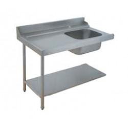 Table de prélavage pour machines à paniers 500 x 500 ou 600 x 500 - 80205