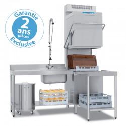Elettrobar - Lave-vaisselle à capot - Panier 500 x 500 mm - RIVER 285