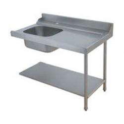 Table de prélavage pour machines à paniers 500 x 500 ou 600 x 500 - 80206L