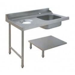 Table de prélavage pour machines à paniers 500 x 500 ou 600 x 500 - 80207