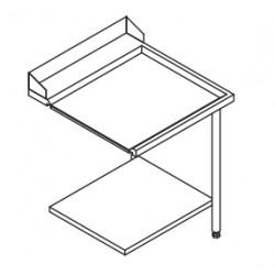Table entrée/sortie pour machines à paniers 600 x 500 - Configuration en angle - 70217