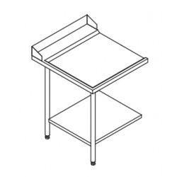 Table entrée/sortie pour machines à paniers 600 x 500 - Configuration en angle - 70215