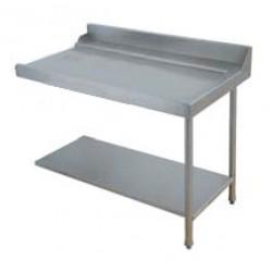 Table entrée/sortie pour machines à paniers 600 x 500 - Configuration en angle - 70207