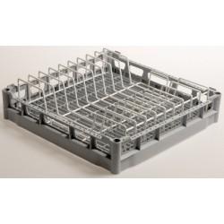 Panier carré pour 9 assiettes ø 240 mm - Fond plat - Polypropylène - 780074