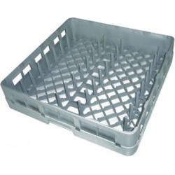 Panier carré pour 18 assiettes plates ou 12 creuses ou 9 plateaux - 52695
