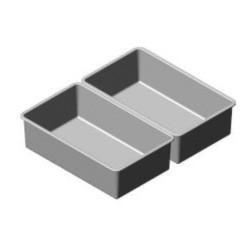 Bac plastique GN1/1 prof 150 mm + égouttoir pour armoires poissons 700 litres GN2/1 - O325311020