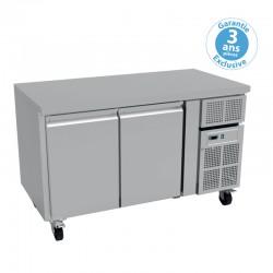 Furnotel - Table réfrigérée positive - 2 portes - 260 litres