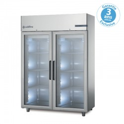 Coldline - Armoire réfrigérée positive MASTER - 2 portes vitrées - 1200 L