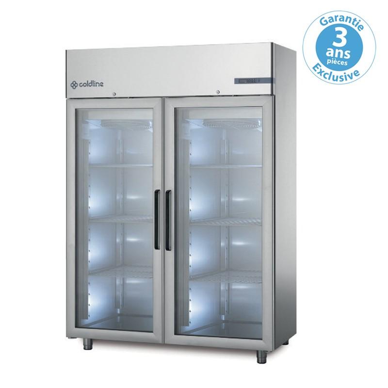 coldline armoire r frig r e n gative master 2 portes vitr es 1200 l. Black Bedroom Furniture Sets. Home Design Ideas