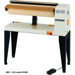 Grandimpianti - kit 4 pieds - Hauteur hors tout avec pieds : 1010 mm - KITS80