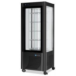Furnotel - Vitrine réfrigérée positive - 4 faces vitrées - 400 litres - Tournante / Plateaux verres - 1 porte - 400GLED
