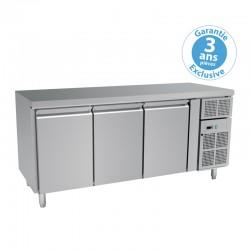 Furnotel - Table réfrigérée positive - 3 portes - 635 litres