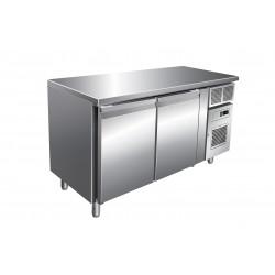 Furnotel - Table réfrigérée négative sans dosseret - 2 portes - 313 litres