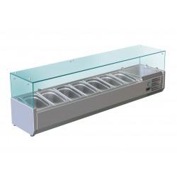 Furnotel - Vitrine réfrigérée pour 7 bacs GN 1/4 - 150 W - VRX150
