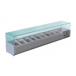 Furnotel - Vitrine réfrigérée pour 9 bacs GN 1/4 - 150 W - VRX180