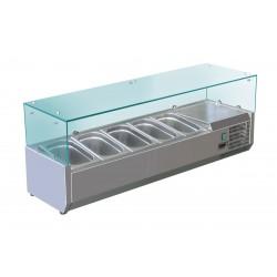 Furnotel - Vitrine réfrigérée pour 5 bacs GN 1/4 - 150 W - VRX120