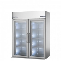 Coldline - Armoire réfrigérée à chariot positive - GN2/1 et 600 x 400 - Groupe logé - 2 portes pleines - 830 litres - J1602M-2