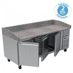 Furnotel - Table à pizza réfrigérée - 669 litres - PZ3600