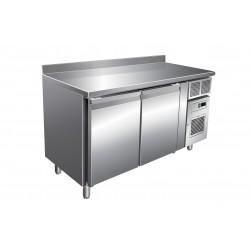 Furnotel - Table réfrigérée négative avec dosseret - 2 portes - 313 litres - GN2201BT