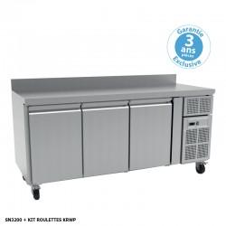 Furnotel - Table réfrigérée positive - 3 portes - 386 litres