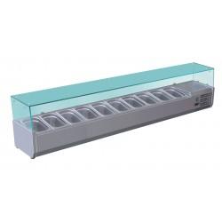 Furnotel - Vitrine réfrigérée pour 10 bacs GN 1/4 - 230 W - VRX201