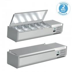 Furnotel - Vitrine réfrigérée pour bacs GN 1/4 - 150 W - VRC121GN14