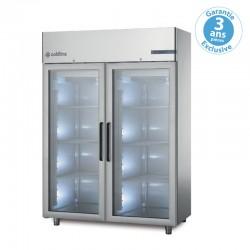 Coldline - Armoire réfrigérée positive -2/+8°C MASTER GN2/1 - 2 portes vitrées - 1400 L