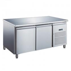 Furnotel - Table réfrigérée inox négative avec évaporateur ventilé - 2 portes - 282 litres - Sans dosseret - GN2101BTX