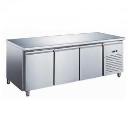 Furnotel - Table réfrigérée inox négative avec évaporateur ventilé - 3 portes - 417 litres - Sans dosseret - GN3101BTX