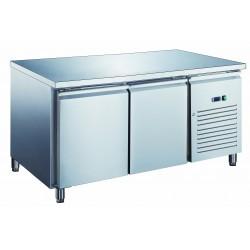Furnotel - Table réfrigérée inox positive avec évaporateur ventilé - 2 portes - 390 litres - Sans dosseret - PA2101X