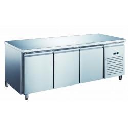 Furnotel - Table réfrigérée inox positive avec évaporateur ventilé - 3 portes - 580 litres - Sans dosseret - PA3101X