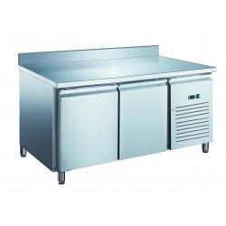 Furnotel - Table réfrigérée inox positive avec évaporateur ventilé - 2 portes - 390 litres - Avec dosseret - PA2201X