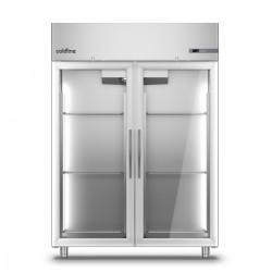 Coldline - Armoire réfrigérée négative MASTER GN 2/1 - Groupe logé - 2 portes vitrées - 1400 L - A1402BV-2
