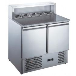 Furnotel - Table à pizza réfrigérée inox GN 1/1 - 240 litres - MP9001X